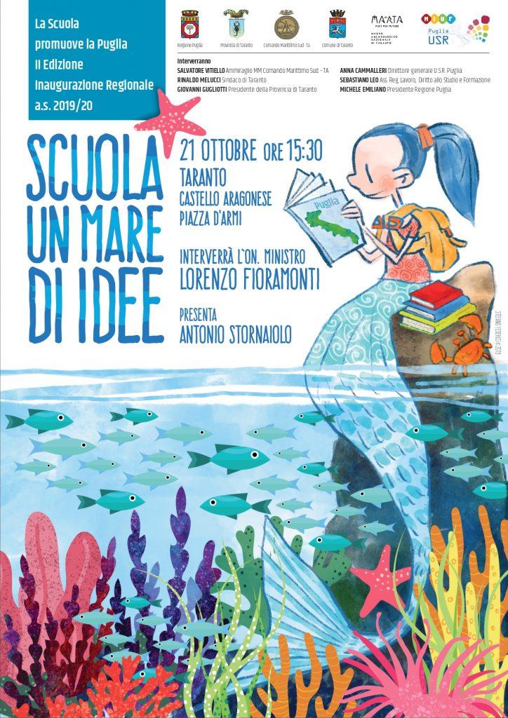 """Locandina """"Un mare di idee"""" - Taranto 21 Ottobre 2019, ore 15.30"""