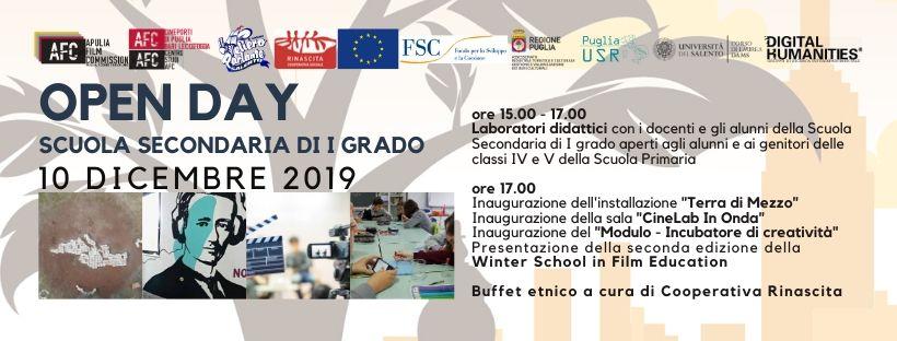 OPEN DAY Scuola Secondaria I grado – Presentazione Winter School – 10 Dicembre 2019