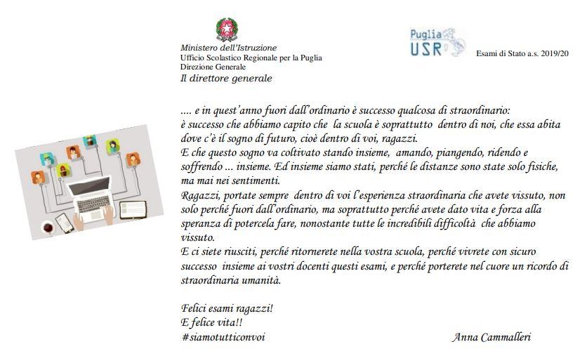 Auguri del direttore USR Puglia